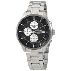 Seiko Neo Sports Black Dial Chronograph Men's Watch SKS545