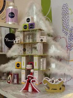 Here's the Nourish Advent Calendar, Santa, Christmas Tree, Cosmetics, Holiday Decor, Gifts, Beauty, Home Decor, Teal Christmas Tree
