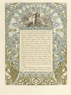 Cloches de Noël et de Pâques, by Émile Gebhart. (1839-1908). Illustrated by Alphonse Mucha.(1860-1939). H. Piazza et Cie. L'Édition d'Art, 4 rue Jacob, Paris.1922.
