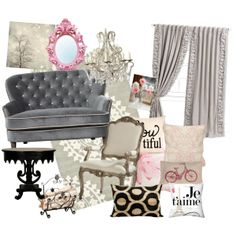 Pink and grey room Pink And Grey Room, Pink Grey, Kids Bedroom, Bedroom Ideas, Master Bedroom, College House, Gold Desk, Room London, Living Spaces
