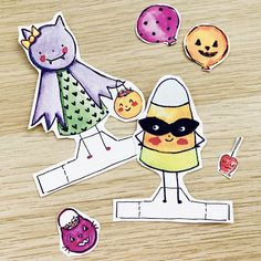 Trick Or Treat Friends Paper Toy PDF 3 Cute Halloween Dolls