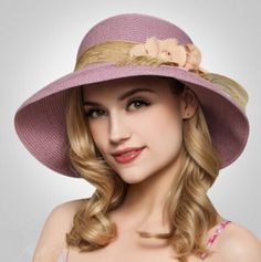 Flower straw hat for women summer fashion UV beach sun hats package. SombrerosSombreros  De Sol Para MujeresSombreros ... c7ebd9b343f