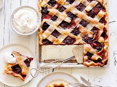 Chocolate-Cherry Lattice Slab Pie recipe from Food Network Kitchen via Food Network