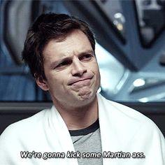 Chris Beck, everyone. (The Martian) Sebastian Stan Bucky Barnes, Steve Rogers, Sebastian Stan, Marvel Actors, Marvel Avengers, Meme Lord, Irish Men, Wattpad, The Martian