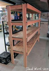 Bon Easy Wood Shelf Design, Plans, Build, 2x4, Cheap, Cost, Money. Basement  Storage ...