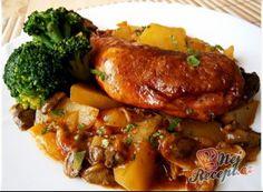 Fofr oběd z tlakáče Roasted Tomatoes, Pressure Cooking, Main Meals, I Foods, Food Videos, Poultry, Ham, Side Dishes, Pork