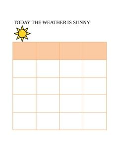 Simple weather charts to use during morning meetings. You can pick a student to be the weekly weather watcher and they get to put a sticker in the ...