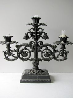 French gothic candelabra