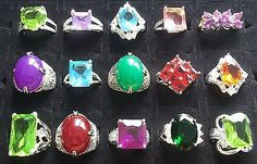 F WOMAN'S DRESS COCKTAIL RINGS BLING JOBLOT WHOLESALE NEW MIXED 925 SILVER PLATE in Jewellery & Watches, Costume Jewellery, Rings | eBay!