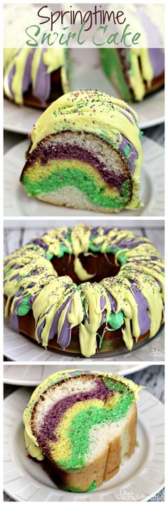 Springtime Swirl Cake ~ Easy, Moist and Delicious Cake Perfect to Welcome the Days of Spring!