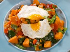 """Sweet Potato Hash with Fried Eggs (Breakfast for Dinner) - Nancy Fuller, """"Farmhouse Rules"""" on the Food Network. Breakfast For Dinner, Breakfast Dishes, Breakfast Recipes, Breakfast Ideas, Brunch Ideas, Breakfast Casserole, Top Recipes, Brunch Recipes, Potato Recipes"""