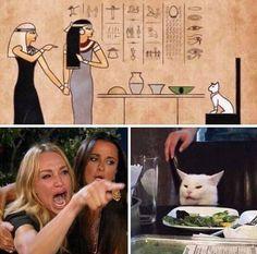 Because every Meme Joke and Story originated in Egypt Really Funny Memes, Stupid Funny Memes, Funny Relatable Memes, Haha Funny, Hilarious, Cat Memes, Dankest Memes, English Jokes, Romantic Movies