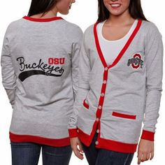 Ohio State #Buckeyes Women's Study Hall #Cardigan. #backtoschool #fashion #style #college www.thestyleref.com