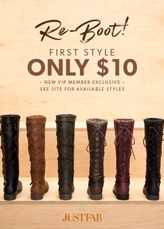 BootoberFest is Here! - Get Your First Style for Only $10! Take the 60 Second Style Quiz to get this exclusive offer!