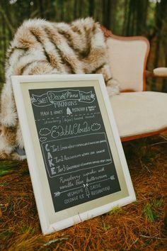 cream and gold chalkboard menu- Auckland Wedding Hire #meanttobeNZ