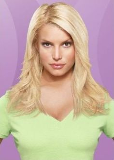 Layered Jessica Simpson Hair Extension Hairdo Chestnut