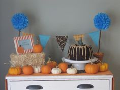 From What's Up With the Woods: A Little Pumpkin Birthday Party Decor