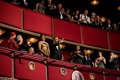 President Barack Obama and First Lady Michelle Obama attend the 2012 Kennedy Center Honors at the John F. Kennedy Center for the Performing Arts in Washington, D.C., Dec. 2, 2012.