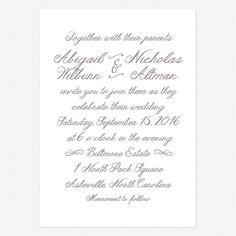 Rustic Elegance Wedding Invitations www.lovevsdesign.com