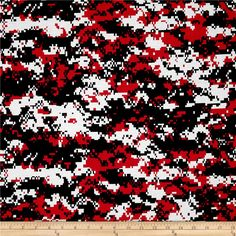 Urban Camouflage Red/Black from @fabricdotcom  This cotton print is perfect for quilting, apparel, and home decor accents. Colors include shades of red, white and black.
