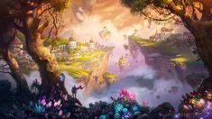 But they stand as the Marvels at the talent of fantasy artists. Below are some fantasy illustrations… Fantasy Places, Fantasy World, Fantasy Landscape, Landscape Art, Forest Landscape, Watercolor Landscape, Landscape Paintings, Watercolor Paintings, Landscapes