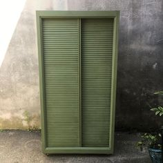 Hey Cape May! This awesome shutter cabinet is coming your way tomorrow! One giant closet that will hold all your things and look gorgeous doing it in this pretty soft green! Who needs some storage?  #availablenow #westendgarage #capemay #vintageshopping #storage #shuttercabinet #closet #WEG #eastcotelanecapemay #eastcotelane