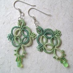 Quadrille Tatted Earrings