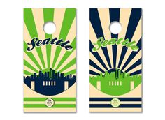 Seattle Seahawks Cornhole Board Set with Bean Bags by CanvasGuys