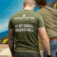 Again Faster T-Shirt, Unleash Hell #CrossFit