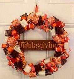 Thanksgiving Wreath on Etsy, $36.00