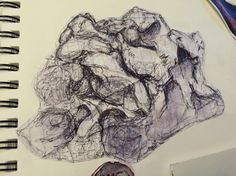 Drawing of clay sculpture using biro