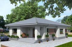 Просторный одноэтажный дом Rg3854 Вид1 Bungalow House Design, Design Case, My House, House Plans, Shed, Exterior, Outdoor Structures, How To Plan, House Styles