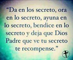 Dios en lo secreto