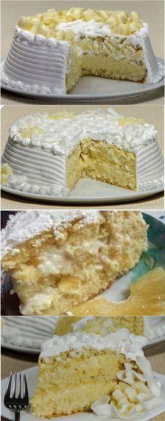 Bread Recipes, Cake Recipes, Cheesecakes, Baker Cake, Pineapple Cake, Cupcakes, Vanilla Cake, Food Inspiration, Sweet Recipes