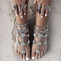 Barefoot sandals just don't get any sexier. #etsyfinds