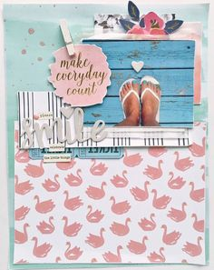 Make Everyday Count layout by @sarahbargo for @sugarmaplepaperco using the Sunkissed Kit!