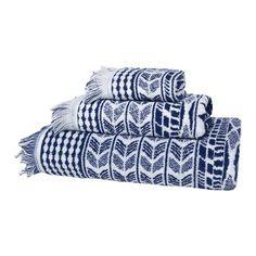 Toalla de algodón con flecos Graccioza Indigo