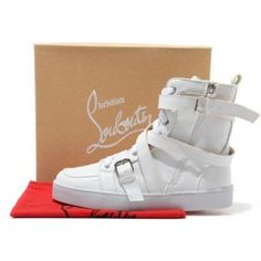 Christian Louboutin Spacer High Top Sneaker White