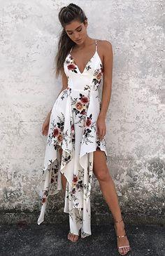 Bohemian Summer V-Neck Spaghetti Strap Sleeveless Maxi Dress