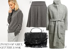 TONES OF GREY, BLACK AND BLUE