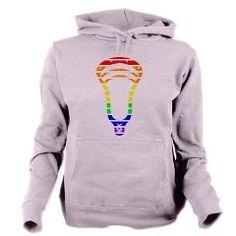 Lacrosse Spectrum Stripes Women's Hooded Sweatshirt www.YouGotThat.com www.facebook.com/YouGotThat #Lacrosse #Lax #Lax gifts #Lacrosse Gifts