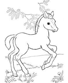 Animal Coloring Page of Horse to Print Free printable Horse and