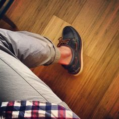 Easton boatshoes Burberry khakis and j.crew button down