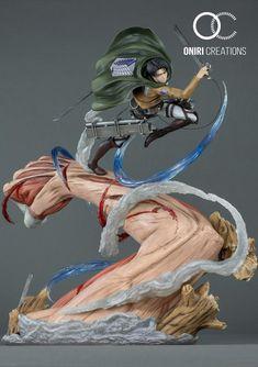 Shingeki no Kyojin - - Levi - Oniri Créations (? Marchandise Anime, Anime Dolls, Anime Art, Figurine Anime, Figurine Naruto, Rayquaza Pokemon, O Pokemon, Female Titan, Otaku
