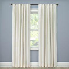 "Linen Look Lightblocking Curtain Panel Cream (Ivory) (50""x95"") - Threshold"