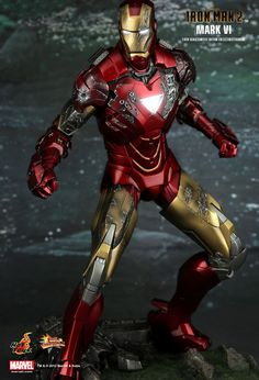 Hot Toys : Iron Man 2 - Mark VI 1/6th scale Limited Edition Collectible Figurine