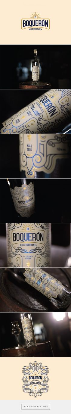 Peruvian Pisco - El Boquerón - Packaging of the World - Creative Package Design Gallery - http://www.packagingoftheworld.com/2016/09/peruvian-pisco-el-boqueron.html
