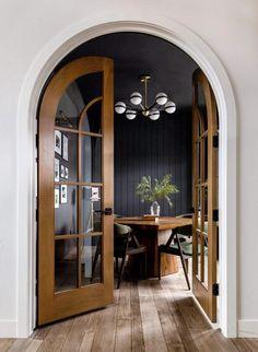 Lighting Sale, Chandelier Lighting, Lighting Design, Troy Lighting, Lighting Ideas, Arch Doorway, Arch Interior, Black Trim Interior, Arched Interior Doors