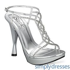High Heel Sizzle Prom Shoes - SanJuan at SimplyDresses.com