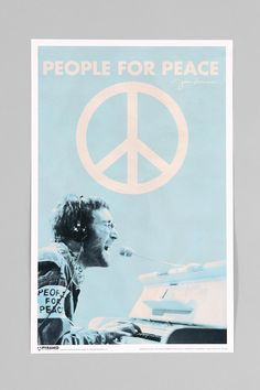 John Lennon People For Peace Poster #urbanoutfitters